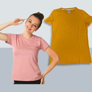 2/40$$ Small Yellow PINK by VS Short-sleeve Tee